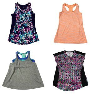 Girls LOT 4 Athletic Tops Tanks Shirts